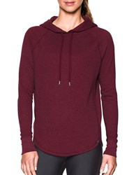 Under Armour Relaxed Fit Raglan Sleeve Hoodie Red