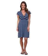 Carve Designs Coco Dress Anchor Baja Women's Dress Blue