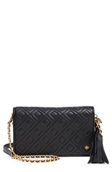 Tory Burch Fleming Leather Wallet Crossbody Black