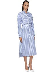 Prada Striped Poplin Shirt Dress