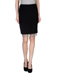 Nuvola Knee Length Skirts Black