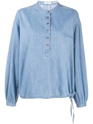 Closed Oversized Denim Shirt Blue