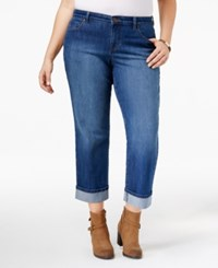 Styleandco. Style Co. Plus Size Riverside Wash Cuffed Capri Jeans Only At Macy's