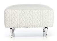 Moooi Boutique Delft Grey Footstool Silver