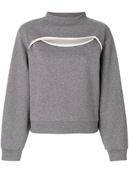 Alexander Wang T By Cutout Sweatshirt Cotton Grey