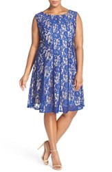 Gabby Skye Plus Size Women's Lace A Line Dress