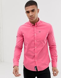 Superdry Pinpoint Oxford Slim Fit Shirt Red