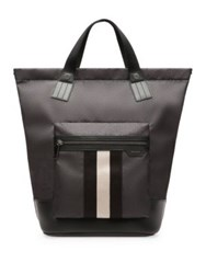 Bally Crowley Stripe Nylon Tote Black