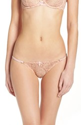 Agent Provocateur Women's L'agent By 'Sienna' Metallic Lace Tanga