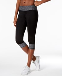 Ideology Colorblocked Performance Capri Leggings Only At Macy's Noir