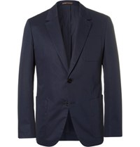 Berluti Stretch Cotton Blazer Blue
