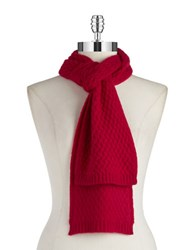 Lord And Taylor Cashmere Knit Scarf Ruby Red