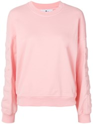 7 For All Mankind Logo Sweatshirt Pink And Purple
