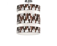 Jefdesigns Tile 1 Triple Tiered Pendant Brown