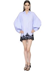 Ermanno Scervino Cotton Poplin And Lace Shirtdress