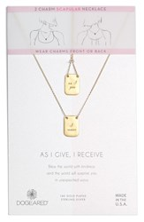 Dogeared As I Give I Receive Layered Necklace Gold
