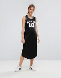 Moss Copenhagen Basketball Midi Dress With Varsity Logo Black