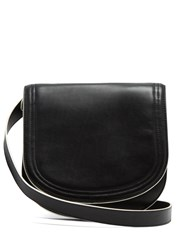 Diane Von Furstenberg Small Saddle Leather Cross Body Bag Black Multi