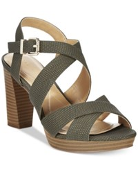 Alfani Women's Palaria Platform Sandals Only At Macy's Women's Shoes Moss