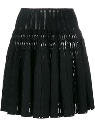 Alaia Flared Mini Skirt Black