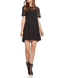 Bcbgeneration Mesh Trimmed Tent Dress Black