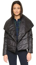 Bb Dakota Peonies Nylon Jacket Black