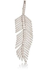 Sidney Garber Women's Pave White Diamond Contour Feather Pendant Color Colorless