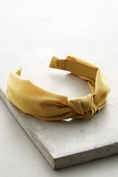 Anthropologie Knotted Chiffon Headband Gold