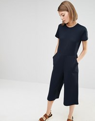 Selected Joey Wide Leg Jumpsuit Navy