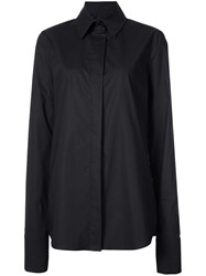Vera Wang Long Sleeve Fitted Shirt Black