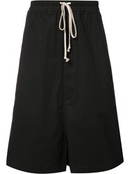 Rick Owens Overszied Shorts Black