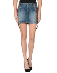 Manila Grace Denim Denim Skirts Blue