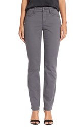 Women's Nydj 'Sheri' Stretch Twill Skinny Pants Dark Graphite