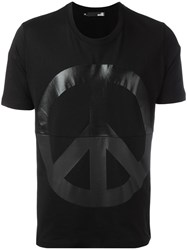 Love Moschino Peace Sign T Shirt Black