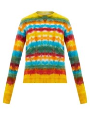 The Elder Statesman Wacky Dye Cashmere Sweater Multi