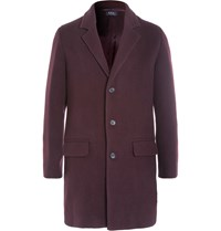 A.P.C. Wool Blend Overcoat Burgundy