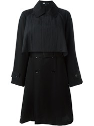 Y 3 Front Panel Trench Coat Black
