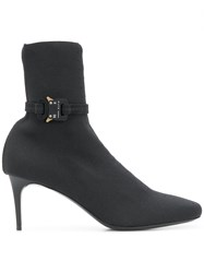 Alyx Round Toe Ankle Boots Black