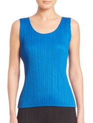 Issey Miyake Colorful Basics Sleeveless Top Yellow Blue