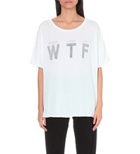 Wildfox Couture Wtf Cotton T Shirt Clean White
