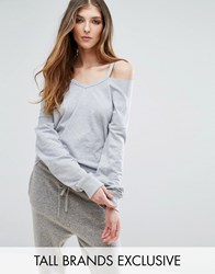 Missguided Tall Exclusive Cut Out Sweat Gray