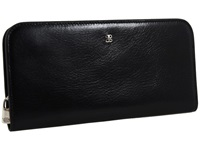 Bosca Old Leather Large Snap Clutch Black Wallet