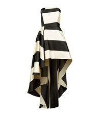 La Mania Striped Bandeau High Low Gown Female Multi