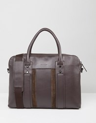 Paul Costelloe Leather Document Case In Brown