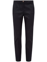 Ted Baker Eiraat Textured Skinny Trousers Navy