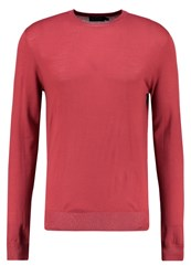 Hackett London Jumper Dark Coral Dark Grey