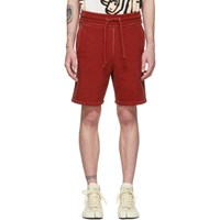 Maison Martin Margiela Red Cotton Shorts