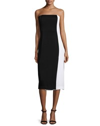 Shoshanna Strapless Body Conscious Colorblock Dress Women's Jet Optic