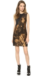 3.1 Phillip Lim Disintegrating Patchwork Sleeveless Dress Bronze