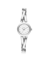 Dkny Crosswalk Round Dial Silver Tone Stainless Steel Women's Watch